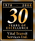 Vital Transit 30 years of excellence service